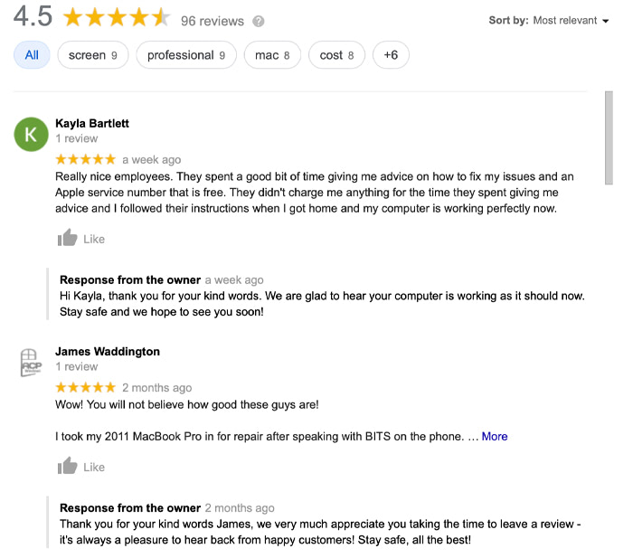 Read our Reviews on Google+